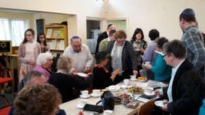 31st May 2015: Members of Luton United mingle  at a 'Klezmer, Coffee and Cream Cakes' afternoon