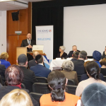 Jewish and Sikh educational leaders listen to  the Chief Rabbi declare the importance of being able to inspect ourselves