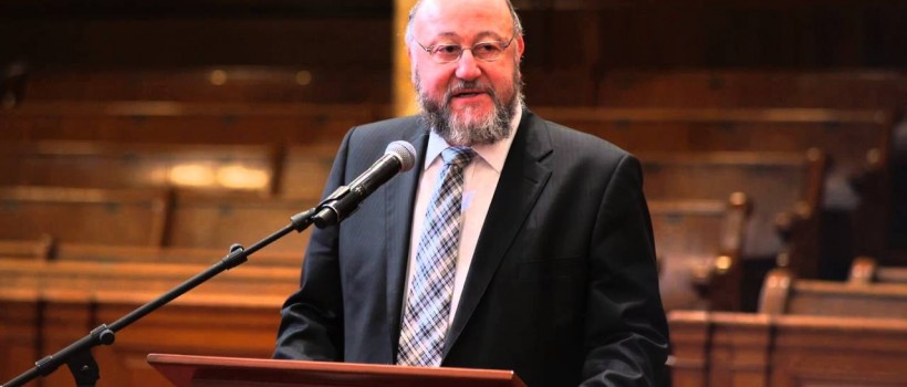 VIDEO: Chief Rabbi gives annual lecture for Yeshiva University's Strauss Center