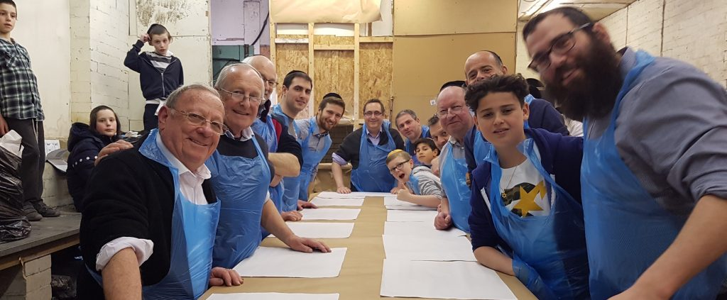 10th April 2016: Ahead of Pesach, members of South Manchester had the chance to try their hand at baking matzah