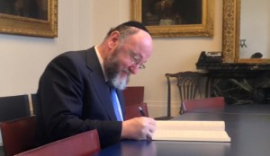 The Chief Rabbi at the French Embassy in London