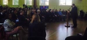 The Chief Rabbi addresses students of La Sainte Union School on Holocaust Memorial Day