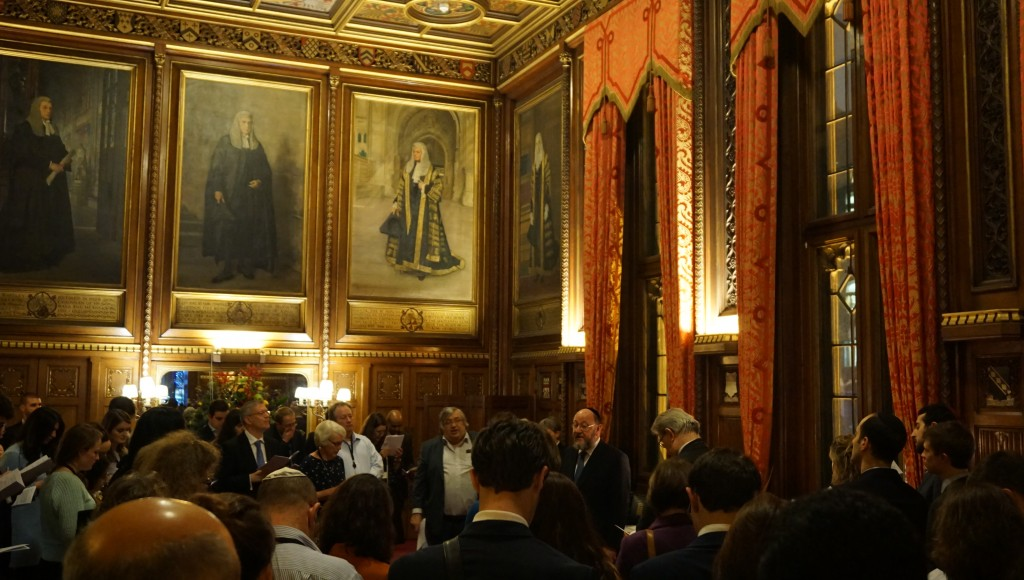 Chief Rabbi attends the annual Chanukah ceremony in the residence of the Speaker of the House of Commons