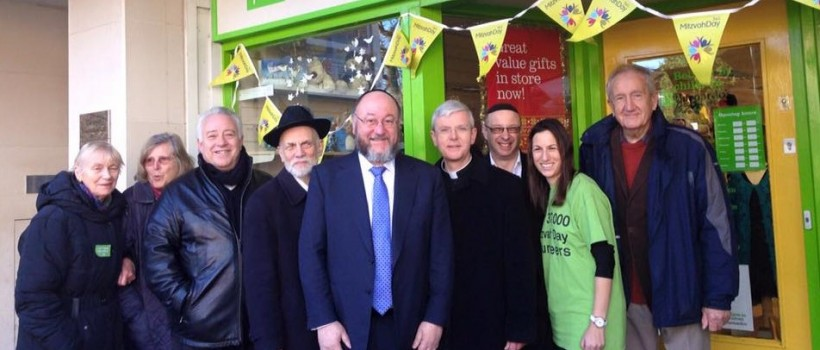 The Chief Rabbi joined local Jewish and Christian community members doing a charity collection in Barnados