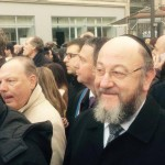 Chief Rabbi Mirvis marches shoulder to shoulder with the French people through the streets of Paris