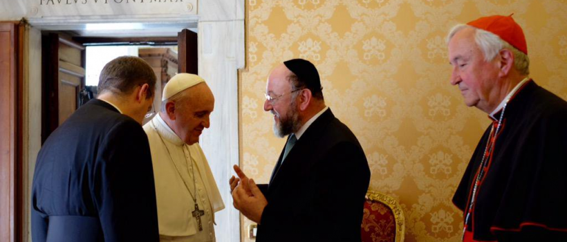 Pope Francis meets the Chief Rabbi in the Vatican City