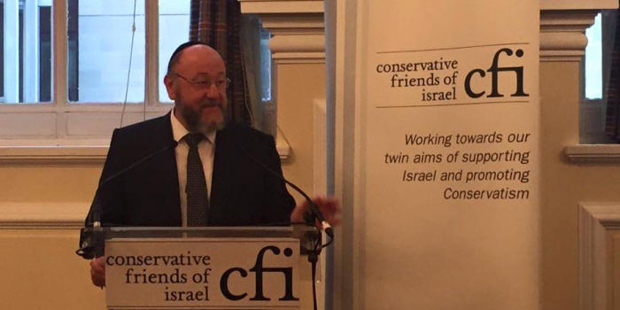 Chief Rabbi Mirvis speaks at Lord Stuart Polak's introduction to the House of Lords