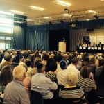 Hundreds of people attended the town-hall meeting