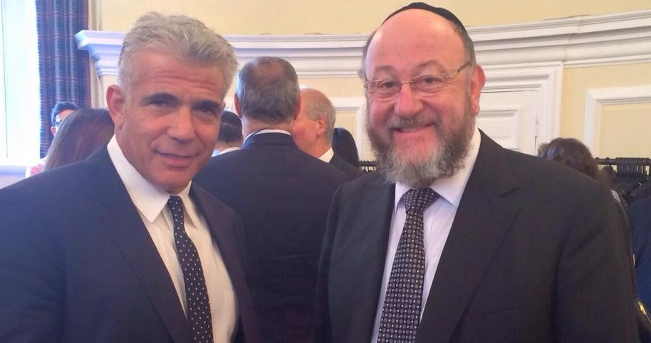The Chief Rabbi spoke with Yair Lapid about the relationship between the UK and Israel at Lord Stuart Polak's introduction to the House of Lords