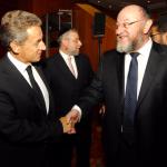 Nicholas Sarkozy and Chief Rabbi Mirvis